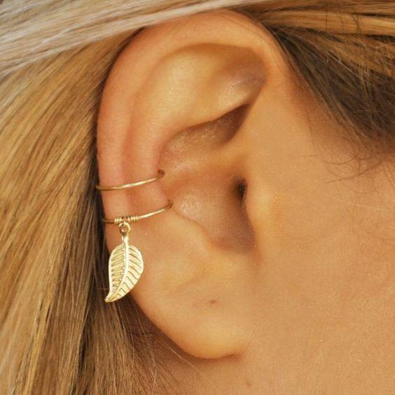 Leaf Earless Ear Clip