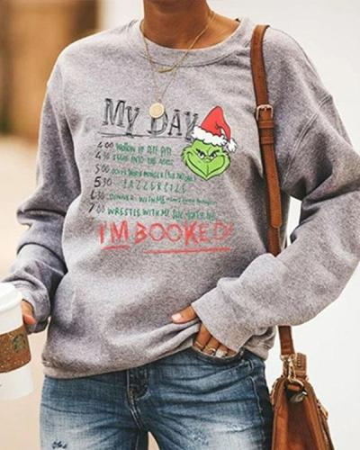 Grinches I'M BOOKED Fleece Sweatshirt
