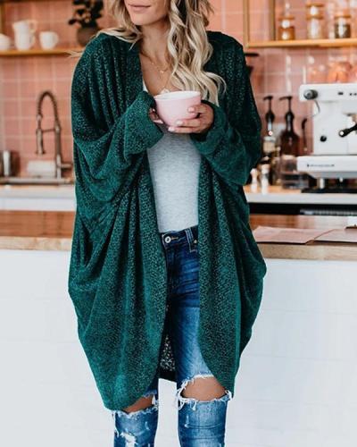 Fashion Bat Sleeve Knitwear Cardigan