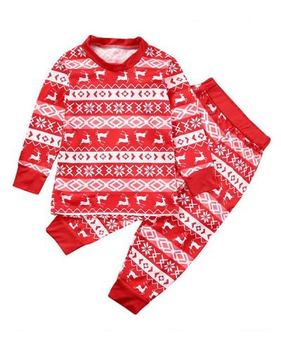 Family Matching Christmas Pajamas For Children