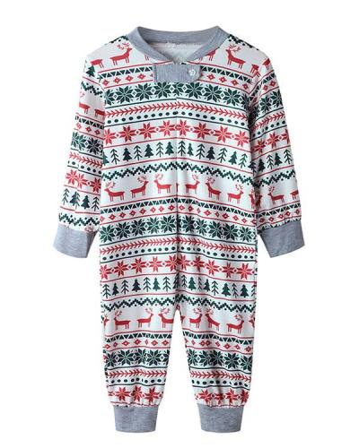 Baby's Stripe Print Parent-Child Family Christmas Loungewear
