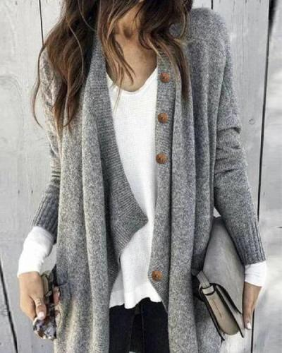 Loose Long Sleeve Women Cardigan Sweater