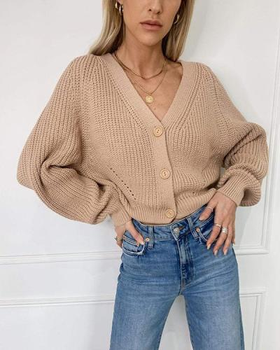 Casual V-neck Sexy Long Sleeve Sweater