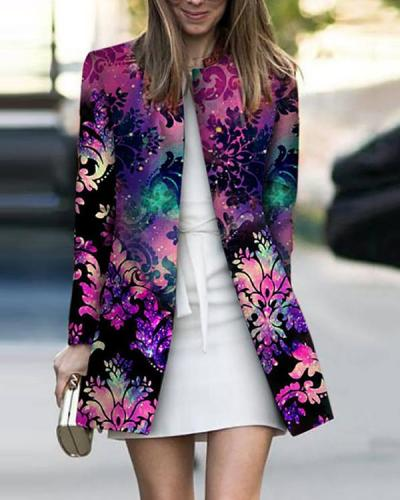 Women Print Fashion Colorful Jacket