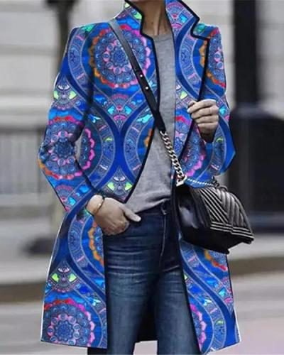 Women Long Sleeve Lapel Coats