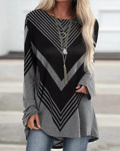 Women's Geometric Print T-Shirt