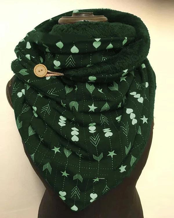 Women Polka Dots Printed Shawl Multi-purpose Neck Wrap Warm Scarf