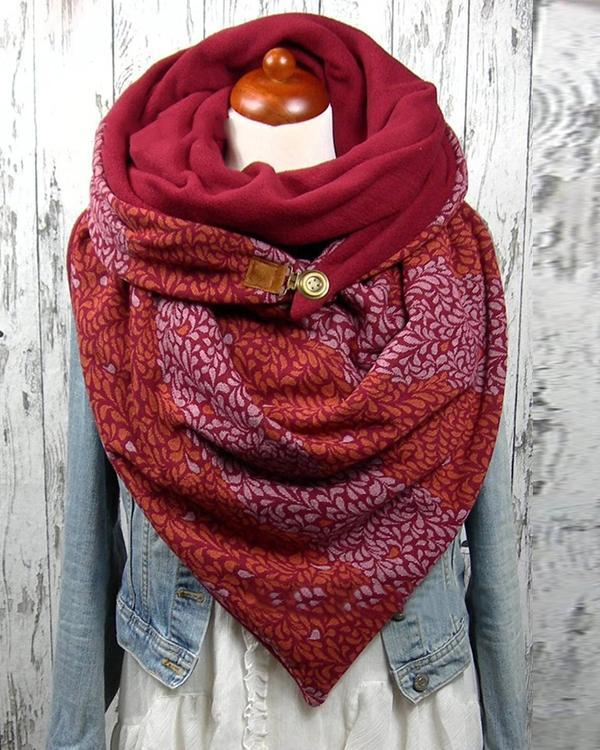 Women Printed Shawl Multi-purpose Neck Wrap Warm Scarf