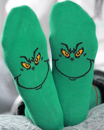 Grinches Cotton Socks