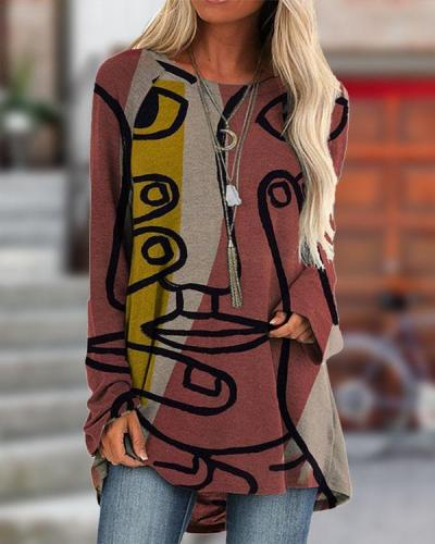 Women's Casual Print Autumn T-Shirt