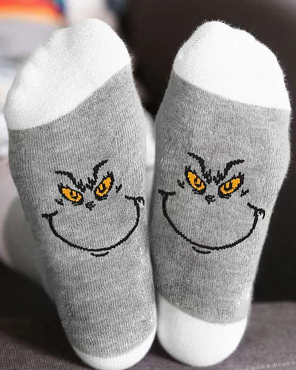 Grinches Cotton Socks