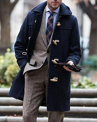 Men's Vintage Solid Color Coat