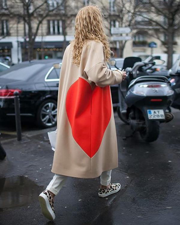 Women Casual Fashion Solid Color Long Coat