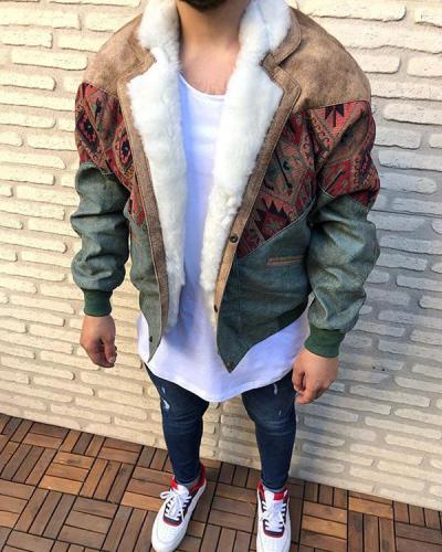 Men's Fashion Color Matching Jacket