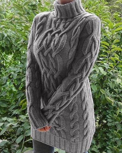 Retro Women Thick Twist Sweaters