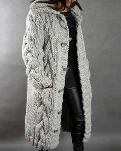 Women Winter Autumn Fashion Long Sweater Cardigan Loose Outerwear