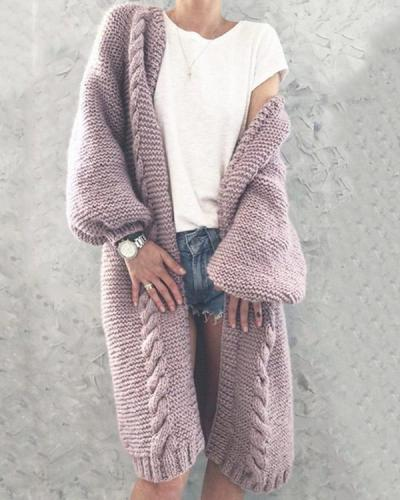 Women Knitted Cardigan Autumn Warm  Coats