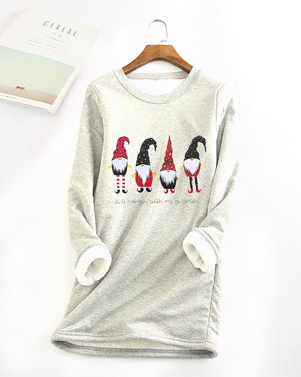 Leisure Sweatshirt Print Regular Fitted Long Sleeve Pullover Sweatshirt for Women