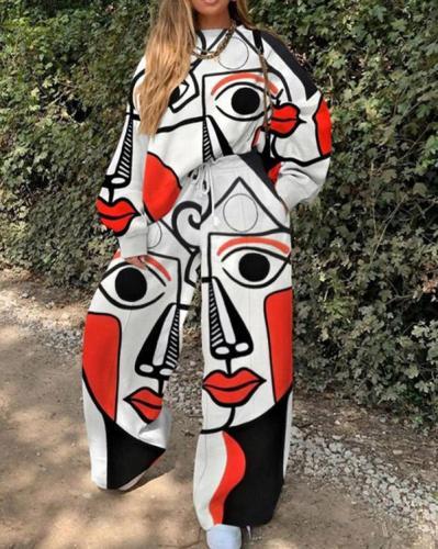 Hot Sale Casual Fashion Print Elegant Two Piece Sets