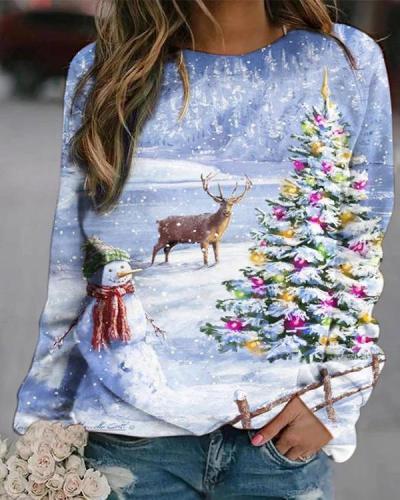 Christmas Digital Printed Sweatshirt