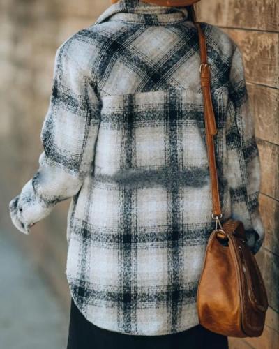 Women Autumn Fashion Plaid Outerwear