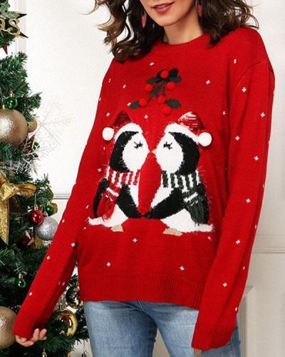 Women's Christmas Cute Print Sweater