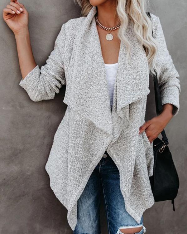 Women Autumn Daily Grey Outerwear