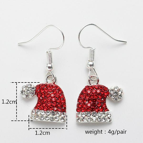 Christmas Gem-set Earrings