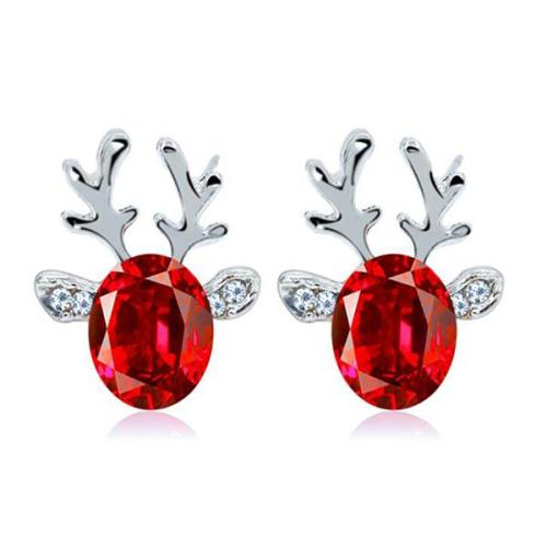 Christmas Crystal Gem-set Earrings