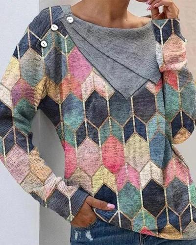 Long Sleeve Vintage Crew Neck Shirts & Tops