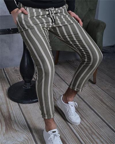 Double Stripe Men's Casual Pants