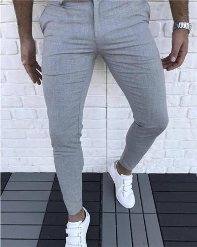 Casual Zipper Fly Skinny Pants