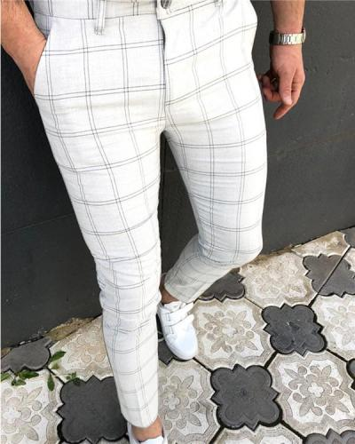 Men's Loose Plaid Casual Pants