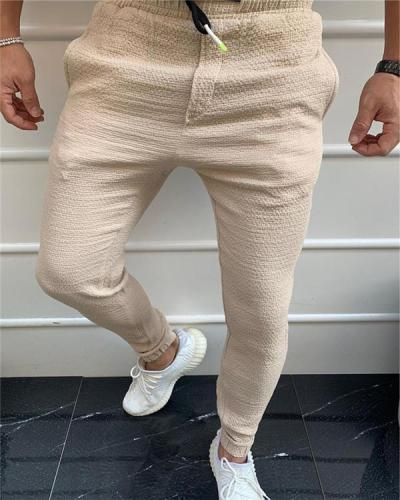 Men's Plain Sports and Leisure Pants