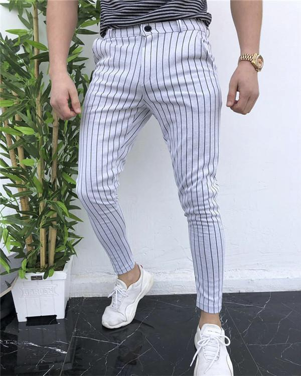 Striped Men's Fashion Casual Pants