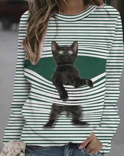 Cute Cat Women's Casual Shirt