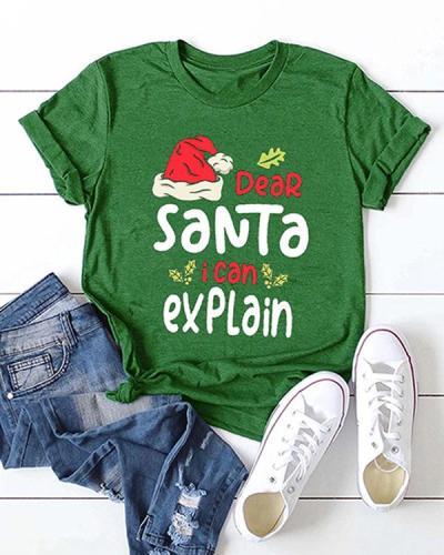 Dear Santa I Can Explain Christmas Short Sleeve T-shirt