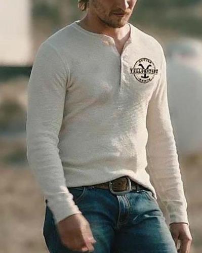 Mens Daily Long Sleeve T-shirt