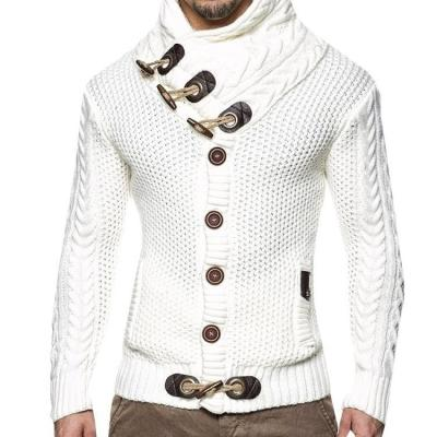 Men's Solid Button Casual Knitting Outerwear