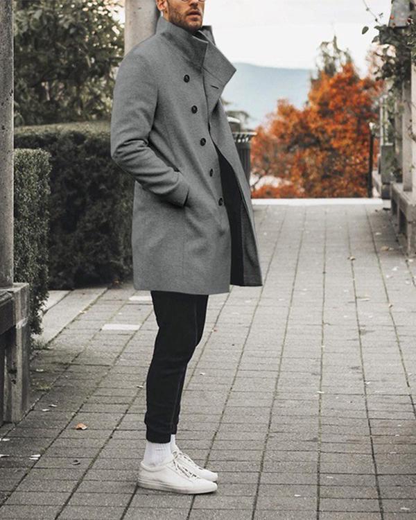 Fashion Men 'S Button Casual Wild Windbreaker Jacket