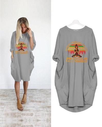 Printed Loose Casual Irregular Plus Size Dress
