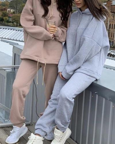 Women Tracksuits 2 Pieces Sets Oversize Sweatshirt Outfits