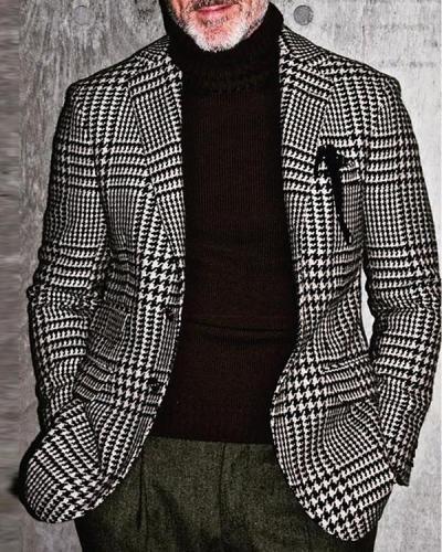 Men's Casual Plaid Jackets