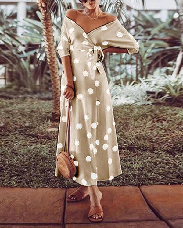 Polka Dot Elegant Sexy Summer Dress