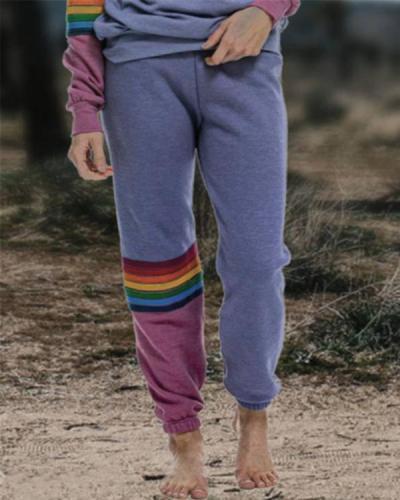 Casual Printed Loose-Fitting Pants