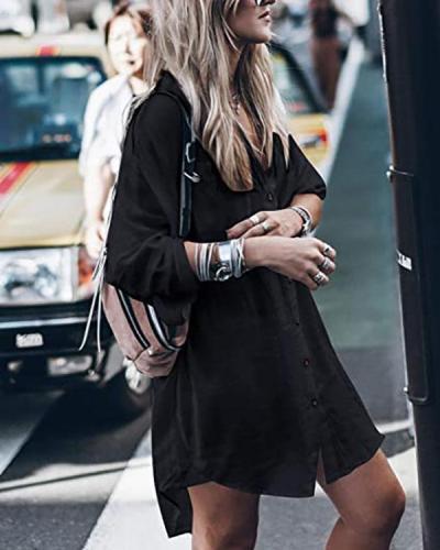Women Loose Long Sleeve Swimsuit Cover Ups Button Down Beach Shirt