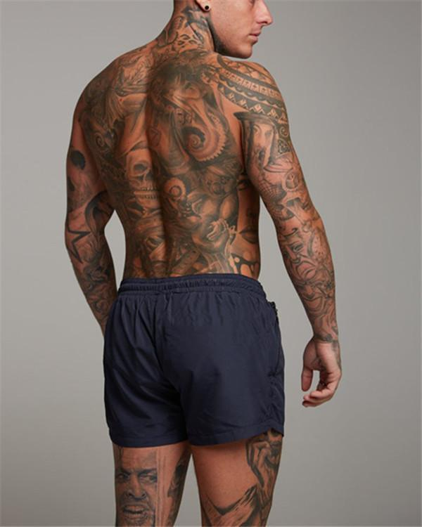 Men's Letter Printing Running Quick-Dry Track Shorts