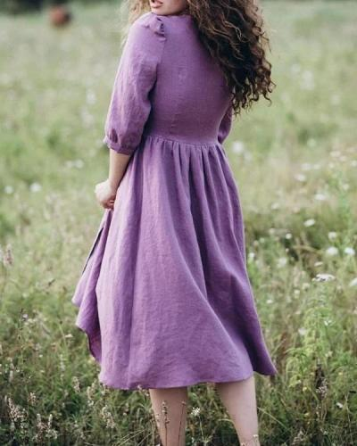Women's Light And Natural Casual Dress