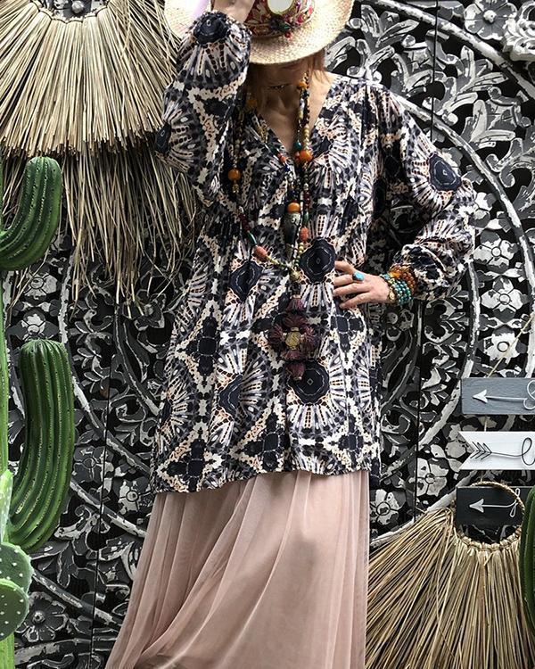 Plus Size Bohemian Print Spring Summer Dress