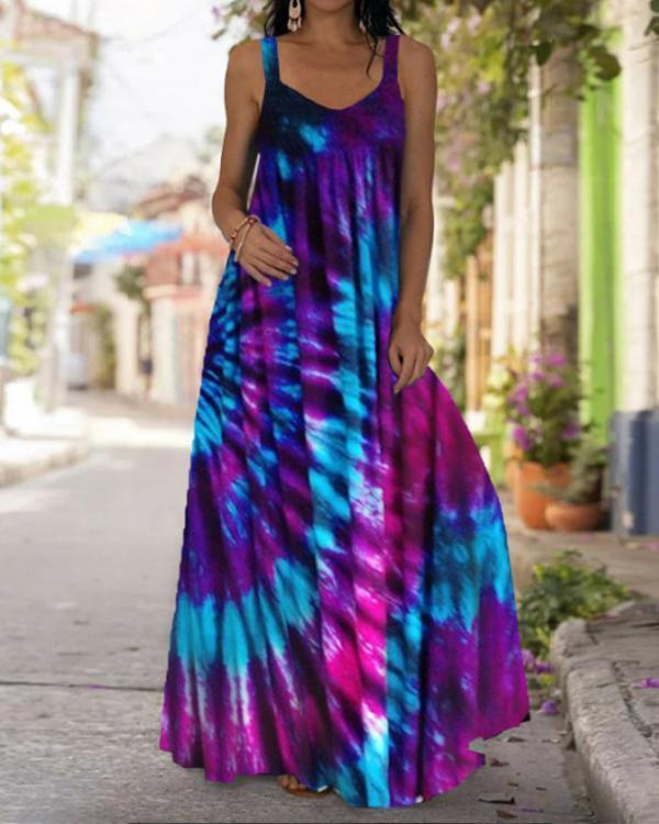Women's Bohemia Sexy Print Summer Maxi Dress
